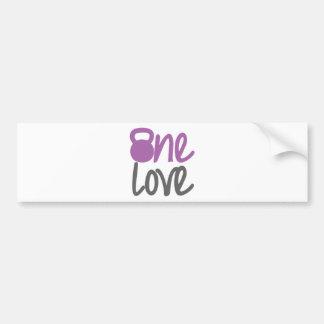 """紫色""""1つの愛"""" バンパーステッカー"""