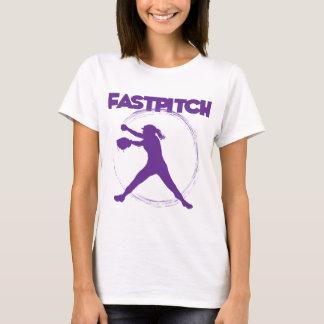 紫色Fastpitch Tシャツ