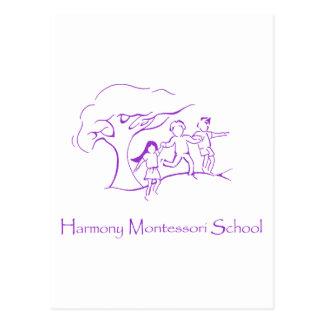紫色HMSのロゴ ポストカード