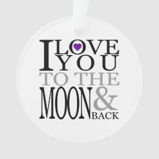 紫色I愛月および背部への オーナメント