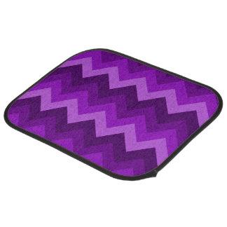 紫色LG Hombreシェブロンのジグザグパターンの陰 カーマット
