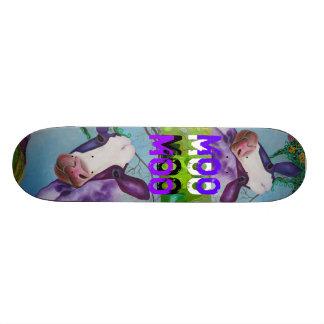 紫色MOO牛スケートボード 19.7CM スケートボードデッキ