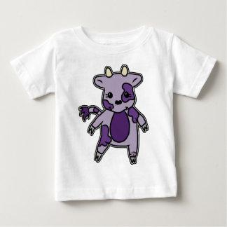 紫色Moo ベビーTシャツ