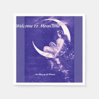 紫色MoonTimeへの歓迎 スタンダードカクテルナプキン
