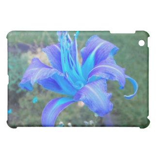 紫色NのターコイズのワスレグサのiPad iPad Mini Case