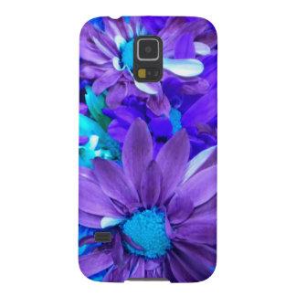 紫色Nのターコイズの花束の銀河系S5の箱 GALAXY S5 ケース