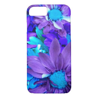 紫色Nのターコイズの花束 iPhone 8/7ケース