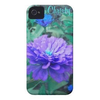 紫色nのターコイズの《植物》百日草のiphone 4ケース Case-Mate iPhone 4 ケース