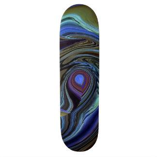紫色Nの金ゴールドの羽の抽象芸術のスケートボード スケートボード