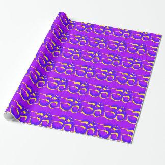 紫色Omは壁紙を張ります ラッピングペーパー