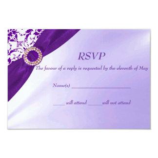 紫色RSVPカード カード