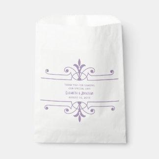 紫色v2ファンシーな装飾用の好意のバッグ フェイバーバッグ