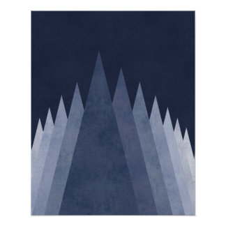 紫金山のモダンでミニマルで幾何学的な芸術 ポスター