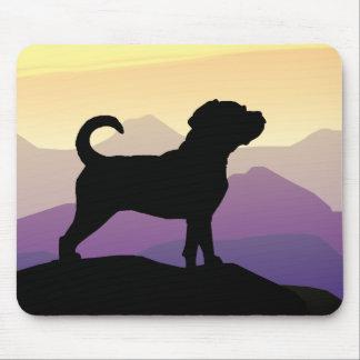 紫金山のPuggle犬 マウスパッド