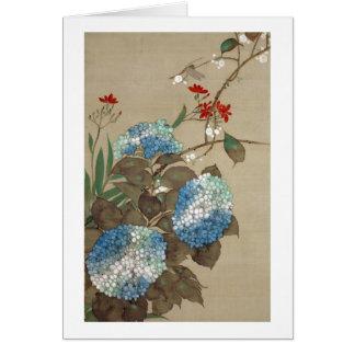 紫陽花、抱一のアジサイ、Hōitsu カード