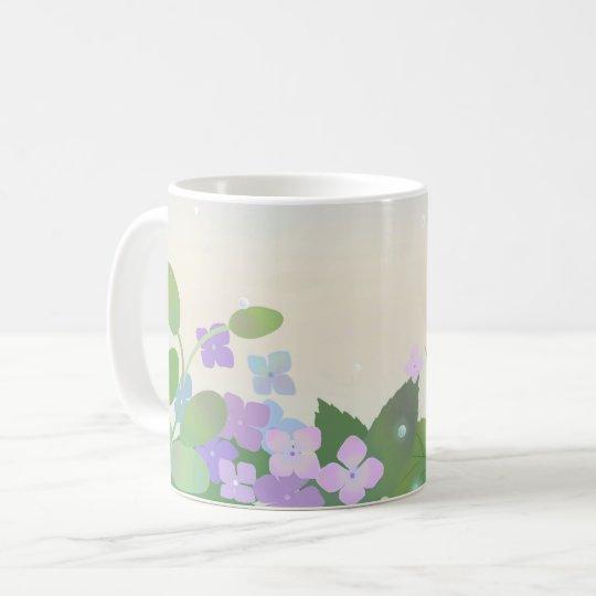 紫陽花 hydrangea コーヒーマグカップ
