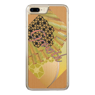 細いかえで木と成長のiPhone 6/6s Carved iPhone 8 Plus/7 Plus ケース