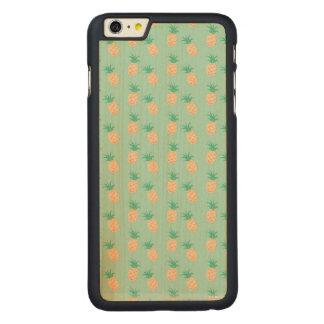 細いかえで木箱と緑のパステル調のiPhone 6/6s CarvedメープルiPhone 6 Plus スリムケース