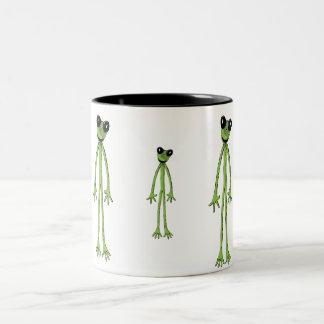 細いカエル ツートーンマグカップ
