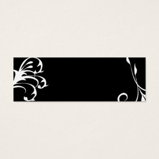 細いカード黒及び白 スキニー名刺