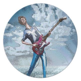 細いギター プレート