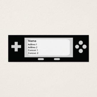細いゲーム- スキニー名刺