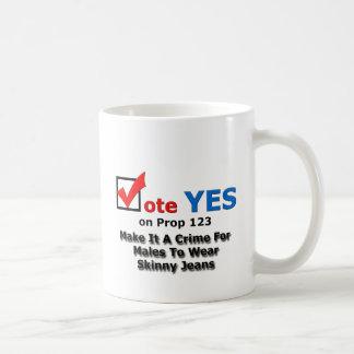 細いジーンズ コーヒーマグカップ