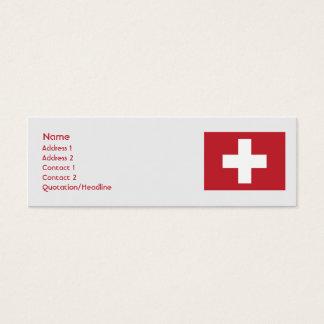 細いスイス連邦共和国- スキニー名刺