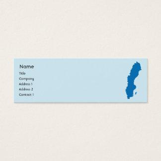 細いスウェーデン- スキニー名刺