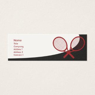 細いテニス- スキニー名刺