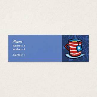 細いプロフィールカード-茶 スキニー名刺