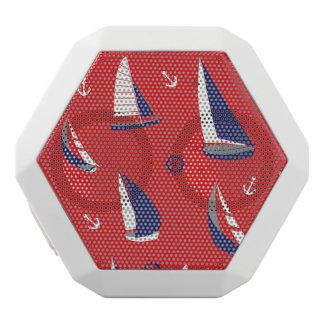 細いヨットパターン ホワイトBluetoothスピーカー