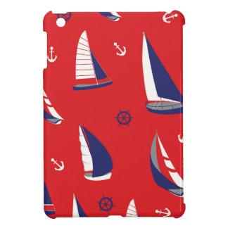 細いヨットパターン iPad MINI CASE
