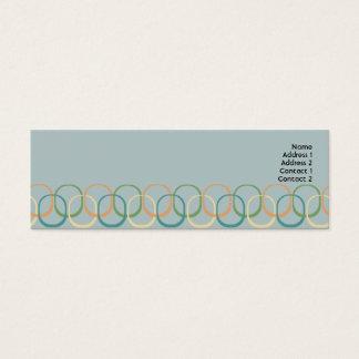 細いレトロの円- スキニー名刺
