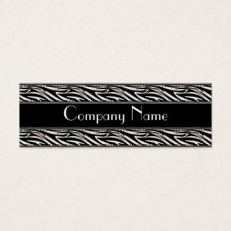 細い名刺のアニマルプリントの黒 スキニー名刺