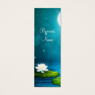 細い名刺のホタルの白い花 スキニー名刺