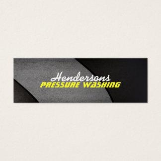 細い圧力洗浄の名刺 スキニー名刺