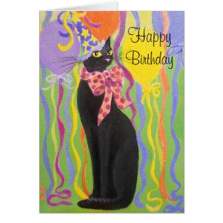 細い子猫、バースデー・カード カード