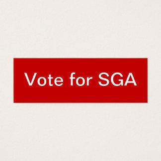 細い学生の政府 (SGA)連合 スキニー名刺