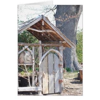 細い掘っ建て小屋 カード