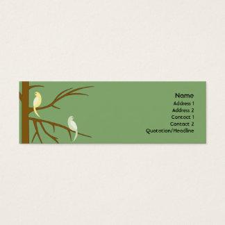 細い木の鳥- スキニー名刺