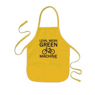 細い緑の平均機械 子供用エプロン