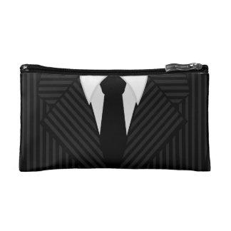 細い縦縞のスーツのタイメンズ小さい洗浄か洗面用品のバッグ コスメティックバッグ