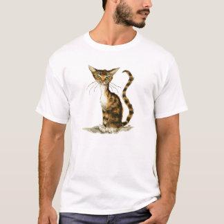 細い茶色の虎猫猫 Tシャツ