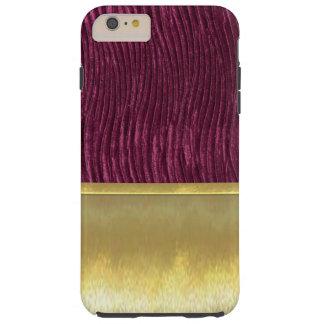 細い貝の金ゴールドの紫色のデザインの箱 TOUGH iPhone 6 PLUS ケース