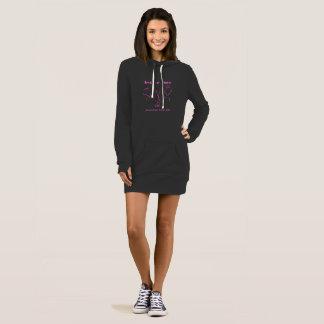 細い適合のフード付きスウェットシャツの服….または非常に長いフード付きスウェットシャツ ドレス