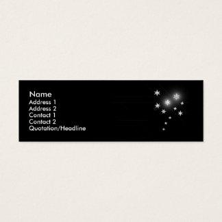 細い銀製の星- スキニー名刺