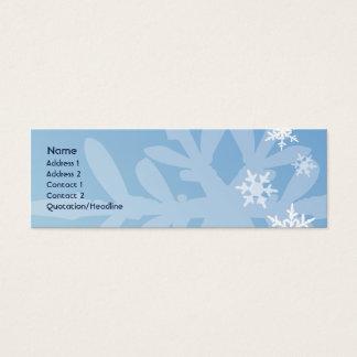細い雪片- スキニー名刺