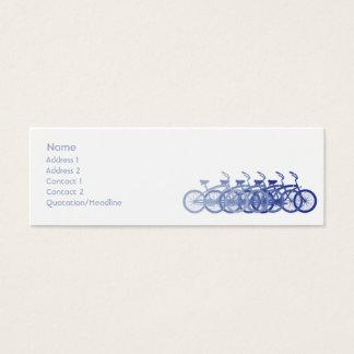 細い青いバイク- スキニー名刺
