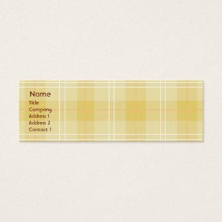 細い黄色い格子縞- スキニー名刺
